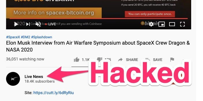 Big YouTube channels keep being hacked by Bitcoin scammers
